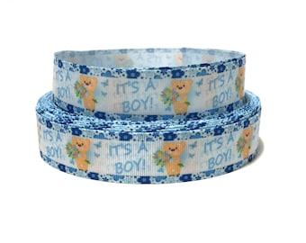 "1"" its a boy ribbon by the Yard, Baby shower Ribbon, Baby boy ribbon, Its a girls grosgrain Ribbon, Baby Shower Decor, Baby shower party"