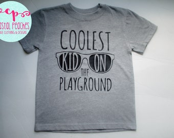 Back To School First Day Playground Toddler Kid Shirt Coolest Kid On The Playground Sunglasses
