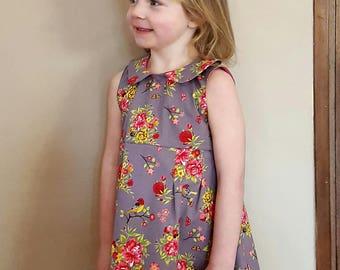 Dress girls, Kids clothes vintage, Kids girls dresses, Vintage floral dress, Floral cotton dress kids, Birthday Party Dress, Girls clothes