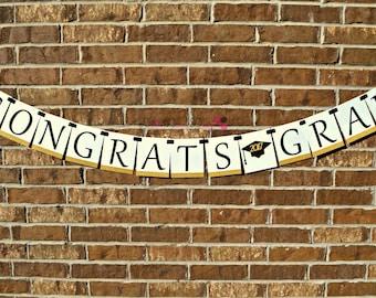 Congrats Grad Banner. Graduation. Senior 2017, Class of 2017. Graduation Decorations. Graduation Decor.