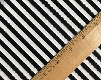1/4 Inch Black and White Stripes from Riley Blake, Binding fabric, Striped Fabric, Black Stripes, Black and White