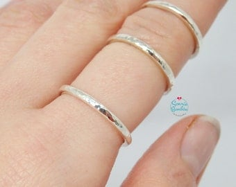 Simple Texture Plain Ring | Sterling Silver textured Ring | Simple silver Ring Texture | Ring texture | Stacking Ring |