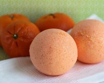 Orange Crush bath bomb, Tangerine Dream bath bomb, vegan bath bomb, orange, citrus bath fizzy, orange bath fizzy