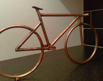 Bicycle sculpture, present, gift 37x20cm hand crafted copper bike