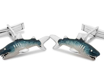 Silver Shark Cufflinks