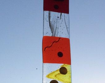 Autumn colours fused glass suncatcher / sun catcher