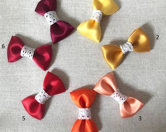 Barrette Satin & lace tones hot for little girls