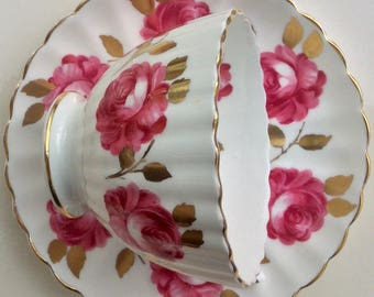 Pretty in Pink-Radfords Fenton Bone China Teacup and Saucer