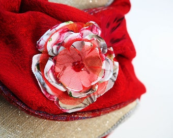 Red Brooch White Brooch Grey Brooch Feather Brooch