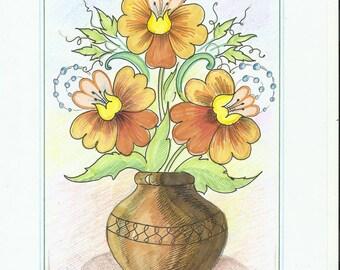 "Decorative painting ""Floral"""