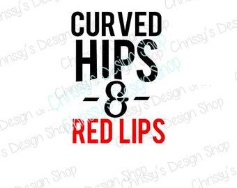 Curvy svg / curvy woman svg file / red lips svg / quote svg / inspirational svg / inspirational dxf / curvy dxf / vinyl crafts / clip art