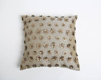 Pyar Linen Pillow with Flowers