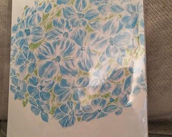 Blue Hydrangea Flower Illustration