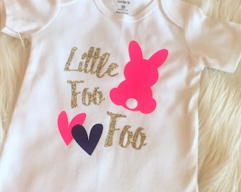 Little bunny foo foo Easter baby girl onesie bodysuit toddler tshirt