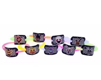 24x FNAF Party Favor Glow Bracelets