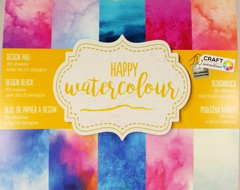 small Blossomy with 30 sheets, 10 themes each 3 x, scrapbooking paper pad design scrapbook Watercolour paper pad (happy Watercolour)