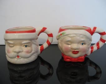 Santa Claus and Mrs. Claus Holiday Mugs