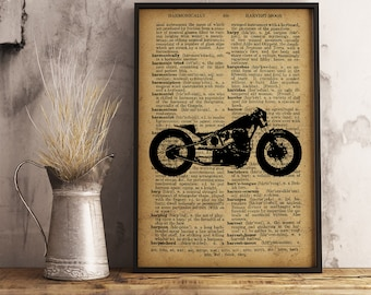 Motorcycle prints and art, Teen Boy Room Decor, Motorcycle Wall Art Man Cave Decor Office Decor, Garage Decor, Gift for him (M07)