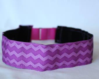 Purple Chevron Headband