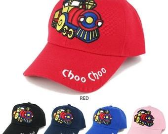 Kids Size Choo Choo Train Emberoidered Design Adjustable Baseball Cap (PB-KID-D-T)