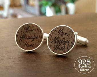 First Anniversary Gift for Him,Custom cufflinks with Dedication,Song,Initials,One Year Anniversary,1 Year Anniversary Gift for Him