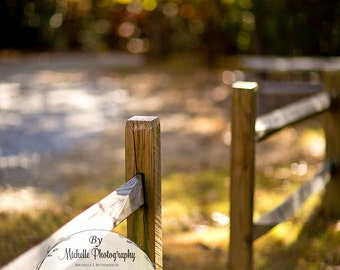 Rustic Fence Digital Background for children, family, or individual