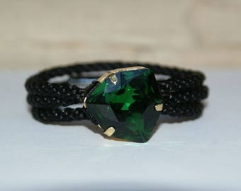Kumihimo Bracelet with SWAROVSKI Crystal