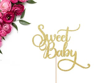 Sweet Baby Cake Topper | Baby Shower Cake Topper | Oh Baby Cake Topper | Gender Reveal | Welcome Baby Cake Topper | Mother To Be Cake Topper