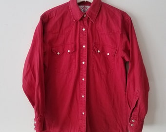 Vintage Red Levi's Button Up
