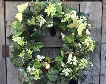 Sage Green Hydrangea Wreath