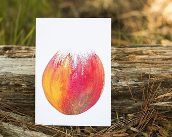 Blossoming Original Watercolour Art card // Greeting card // Notecard // Blank inside // Recycled paper envelope // Gift card