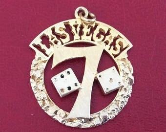 14K yellow Las Vegas gold charm vintage antique # 1056