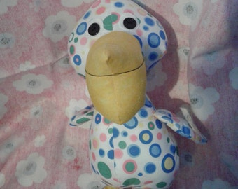 Fabric toy pelican