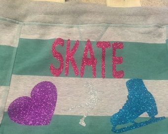 Skate Drawstring Tote Bag