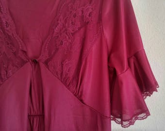 Vintage Majestic Magenta Lingerie Dress and Gown