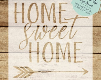 Home Sweet Home STENCIL // Home Sweet Home Decal // Pallet Sign Stencil // DIY Pallet Sign