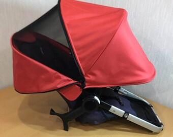Bugaboo Cameleon custom extendable canopy hood with mesh window (possible for Bee plus + 3 5, Donkey, Buffalo)