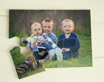 """Personalized Wood Puzzle!(4""""x6"""" with 6 pieces) Hand-crafted Personalized Puzzle for kids, Wood photo Puzzle Personalized"""