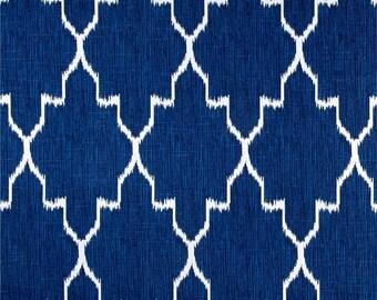 Blue Pillow Cover, Cobalt Blue, White, Moroccan, Ikat Pillow, Trellis, Geometric, Throw Pillow, Modern, SummerHome, Lattice, Lacefield, Ikat