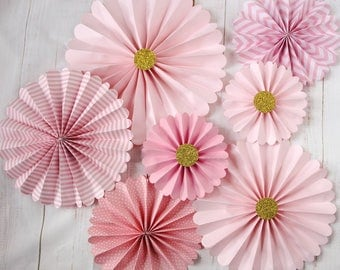 Pink Pinwheel Backdrop for Valentine, Sweet 16, Engagement, Boho Party Paper Flower Backdrop