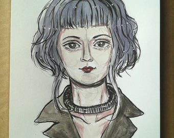 Ramona Flowers Original Watercolour  Drawing