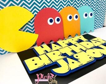 Pac-man Birthday, Pac-man party, pac man favors, pac man centerpiece