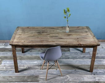 Timber table in rustic Sadah 180 x 95 cm
