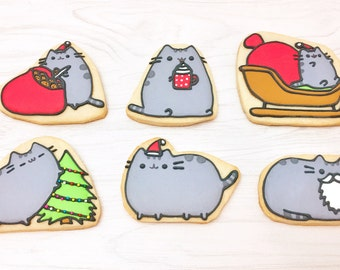 Pusheen The Cat Christmas Sugar Cookies