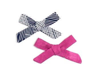 Blue Bow // Small Bows // Baby Bow Set // Baby Gift // Baby Shower // Pink Bow // Hair Bow // Bow