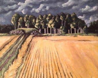 Acrylic paint - harvest