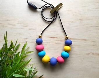 Paddle Pop Necklace - gift for her, teacher present, polymer clay, accessories