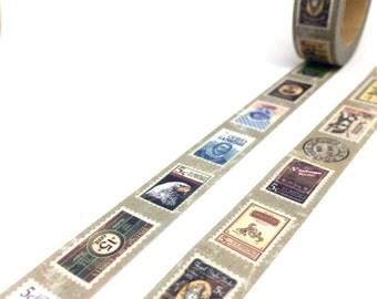 Vintage Stamps Washi Tape - Retro Postal