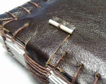 Dark Burgundy red book - Blank book -  Journal -  Leather blank book - Hand crafted book - Travelers journal