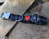 Lifeline Dog Collar | Available in Dark Navy or White